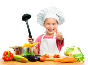 enfants à la cuisine